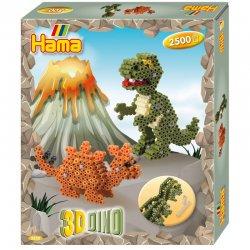 Hama 3250 - DINOZAURY 3D, koraliki midi