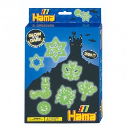 Hama 3414 - Świecące w ciemności, koraliki midi