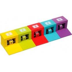 Kolorowe garaże i samochodziki - Cubika