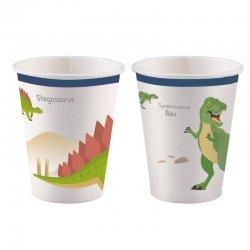 """Kubeczki papierowe """"Dinozaury"""" - 266 ml, 8 szt."""