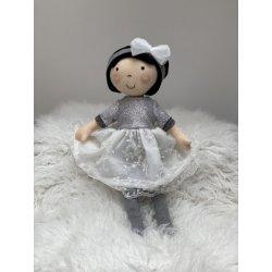 Lalka Ada brunetka w koronkowej sukience