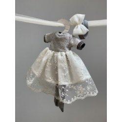 Ubranko dla lalki - Koronkowa sukienka