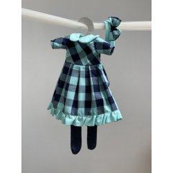Ubranko dla lalki - Sukieneczka w kratę