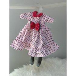 Ubranko dla lalki - Sukienka z kokardą