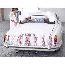 Zestaw dekoracji na samochód - Ślub/Wesele - Nowożeńcy