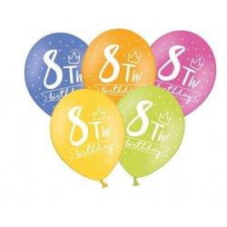 Balon 30cm ósemka- lateksowy, różne kolory pastel