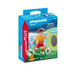 Playmobil 70157 - Piłkarz ze ścianką treningową, Super Plus
