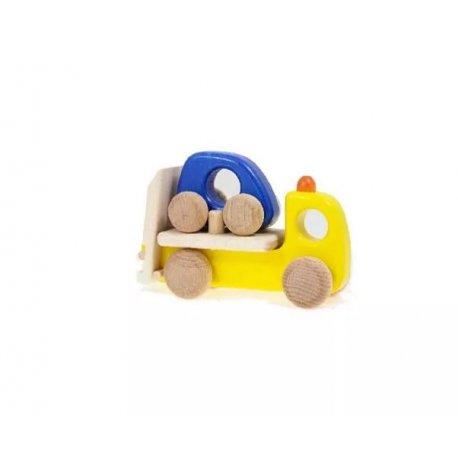Drewniana Zabawka - Pomoc drogowa - samochód drewniany - BAJO