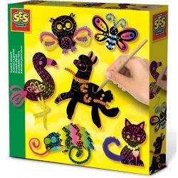 Kreatywna zabawa - Zwierzątka zdrapywanki - SES Creative