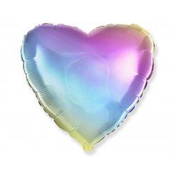 "Balon serce gradient pastelowy 18"" (45 cm)"