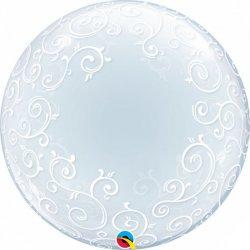 Balon Dekoracyjny Deco Bubble - Fantazyjny - transparentny 61 cm