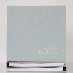 Album, pamiętnik dla dziecka - 'Twoja Historia Kochanie', wersja błękitna