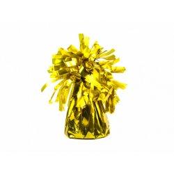Ciężarek do balonów, foliowy, złoty