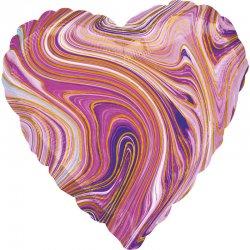 """Balon kolorowe serce """"Marblez"""" 43 cm"""
