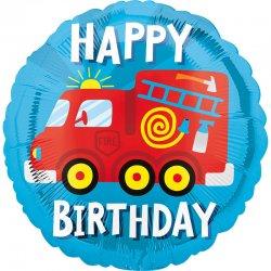 """Balon foliowy """"Straż Pożarna"""" z napisem Happy Birthday - 43 cm"""