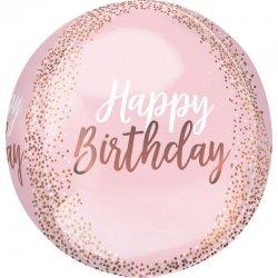 "Balon Orbz Kula Confetti ""Happy Birthday"" 38 cm x 40 cm"