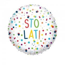 """Balon urodzinowy """"Sto lat!"""" - 43 cm"""