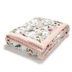 Koc, narzuta dla dorosłych, Wild Blossom, Powder Pink, La Millou