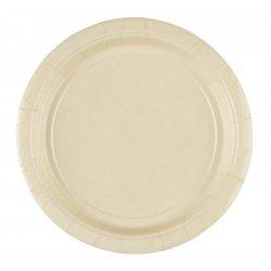 Kremowe papierowe talerzyki - Vanilla - 18 cm