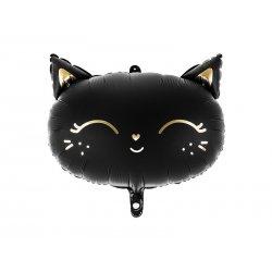 Balon w kształcie Czarnego Kota - 48 x 36 cm