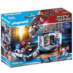 Playmobil 70326 - Zestaw Policja z helikopterem