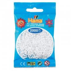 Hama mini 2000 koralików - Białe