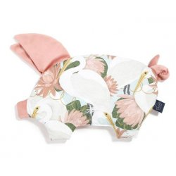 Podusia Sleepy Pig Velvet, Heron in a Pink Lotus , Papaya, La Millou