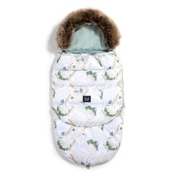 Śpiworek Stroller Bag Aspen winterproof, Heron a Cream Lotus, Smoke Mint