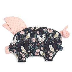 Poduszka Sleepy Pig, Magic Owl, powder pink, La Millou