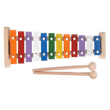 Cymbałki dla dzieci, tradycyjne, drewniane, 12 tonowe