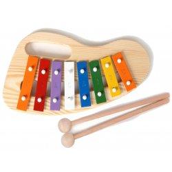 Cymbałki drewniane dla dzieci z uchwytem - 8 tonowe