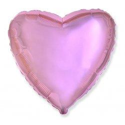 """Balon różowe serce 18"""" (45 cm średnicy)"""