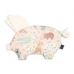 Poduszka Sleepy Pig, Dundee & Dundee Friends Pink, Ecru, La Millou