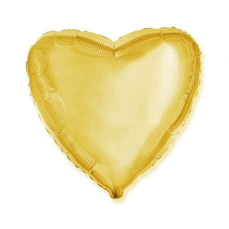 "Balon złote serce 18"" napełniony helem"