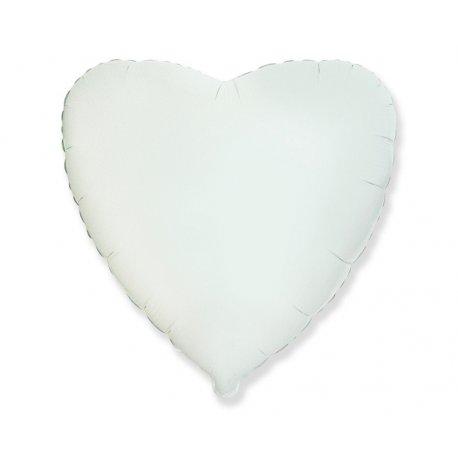 """Balon białe serce 18"""" (45cm)"""