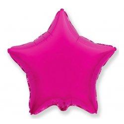 """Balon foliowy gwiazda 18"""" kolor ciemny róż"""