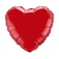 """Balon czerwone serce 18"""" (45cm)"""