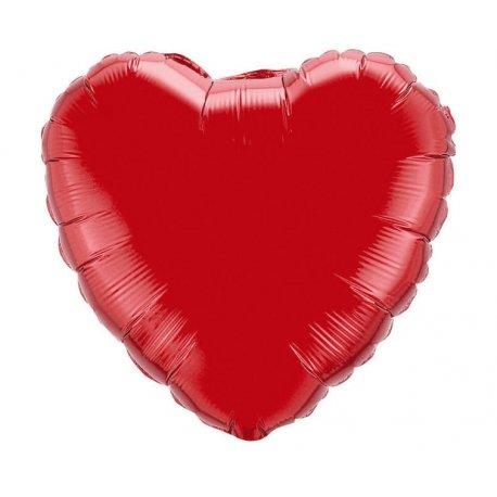 Balon Czerwone serce napełniony helem