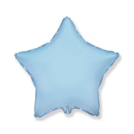 "Balon foliowy niebieska gwiazda 18"""