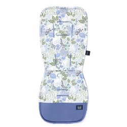 Stroller Pad Organic Jersey, It's White Magic, Velvet Ink