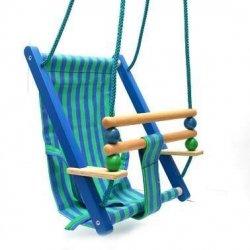 Huśtawka drewniana dla dziecka - Bajo 52010