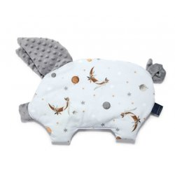 Poduszka Sleepy Pig, By Whatannawears - Fly me to the Moon Sky Pure, Grey, La Millou
