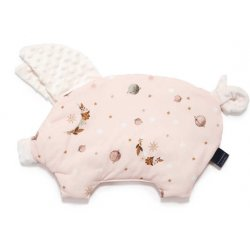 Poduszka Sleepy Pig, By Whatannawears - Fly me to the Moon Nude Pure, Ecru, La Millou