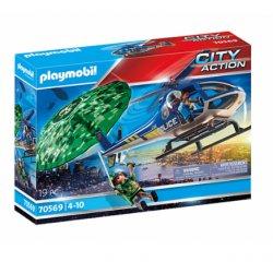Playmobil 70569 - Policyjny śmigłowiec - Ucieczka ze spadochronem