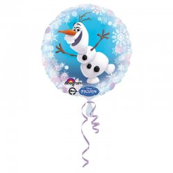 """Balon foliowy okrągły 17"""" Olaf z Krainy Lodu"""
