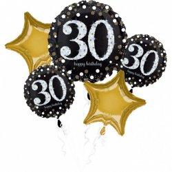 Bukiet Balonów na 30 urodziny - 5 balonów na Hel
