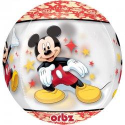 """Balon Orbz """"Mickey Mouse"""" - przeźroczysty 38 x 40 cm"""