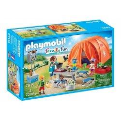 Playmobil 70089 - Rodzina na kempingu