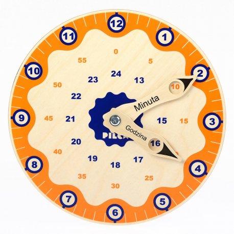Zegar drewniany - nauka godzin