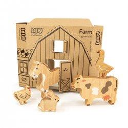 Bajo 25220 - zestaw drewnianych zwierzątek - Farma